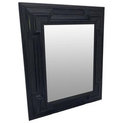Early Flemish or Scandinavian Ebonized Baroque Style Wall Mirror