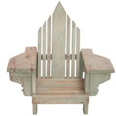 Craftsman Style Child Adirondack Chair, Designer Unknown, USA, 1940s