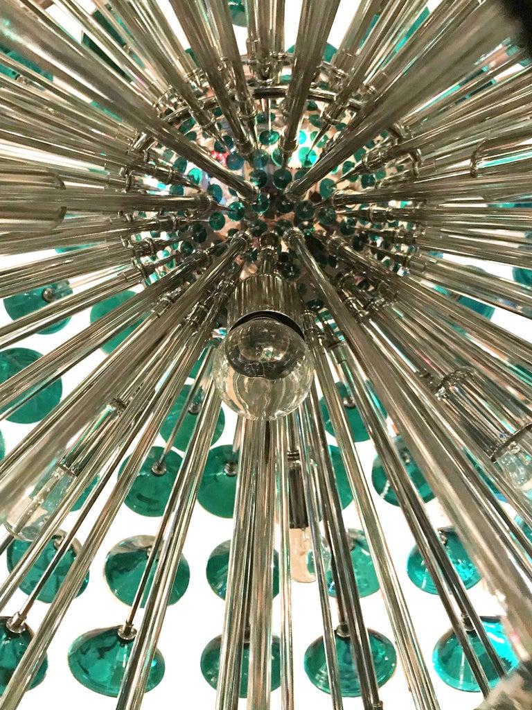 Contemporary Italian Green Murano Trumpets Sputnik For Sale