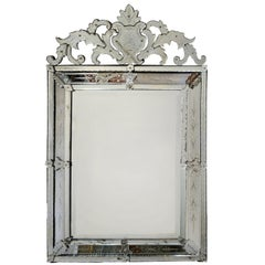 Large Late 19th Century Bevelled Venetian Mirror, circa 1895