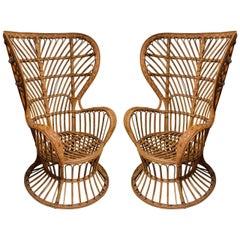 Pair of Cane Chairs by Lio Carminati