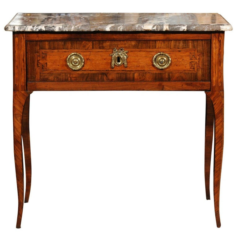 18th Century French Transitional Louis XV/XVI Commode en Console For Sale