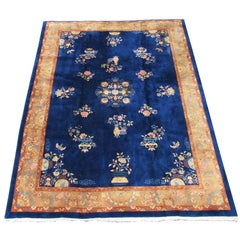 "Antique Chinese Art Deco Oriental ""Nichols"" Carpet in Excellent Condition"