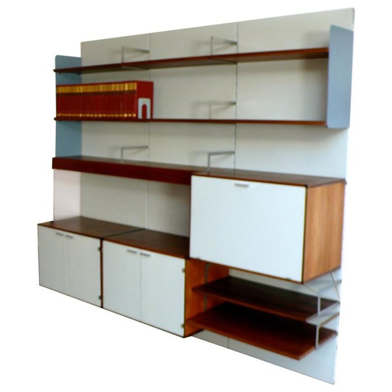 A Japanese Inspired Apartment With Plenty Storage Systems: Large Vintage Industrial Midcentury Shelving System Or