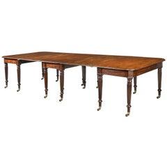 Regency Period Three-Part Mahogany Dining Table