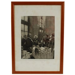 Photoengraving from the Art Work Dr Péan and His Surgery before the Operation