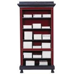 Gaius Velvet Covered Open Bookcase