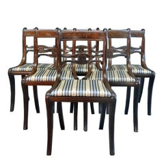 Set of Six Classical Dining Chairs Attributable to Duncan Phyfe, New York