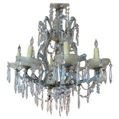 French 19th Century Eight-Light Crystal Chandelier