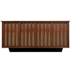 Danish Walnut Credenza Style RCA Console Stereo, Fully Serviced and Working