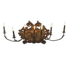 19th Century Italian Gold Gilt Venetian Wall Sconce