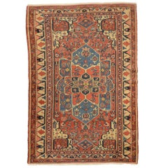 Early 20th Century, Persian Wool Rug, Serapy, Rossette Design, circa 1900