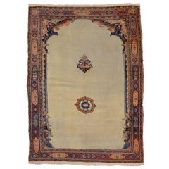 20th Century Khorassan Wool Rug, Single Niche Chapel Design, circa 1900
