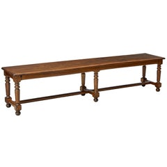 Late 19th Century Long Oak Bench