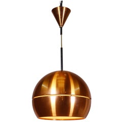 Midcentury Danish Modern Copper Pendant Lamp