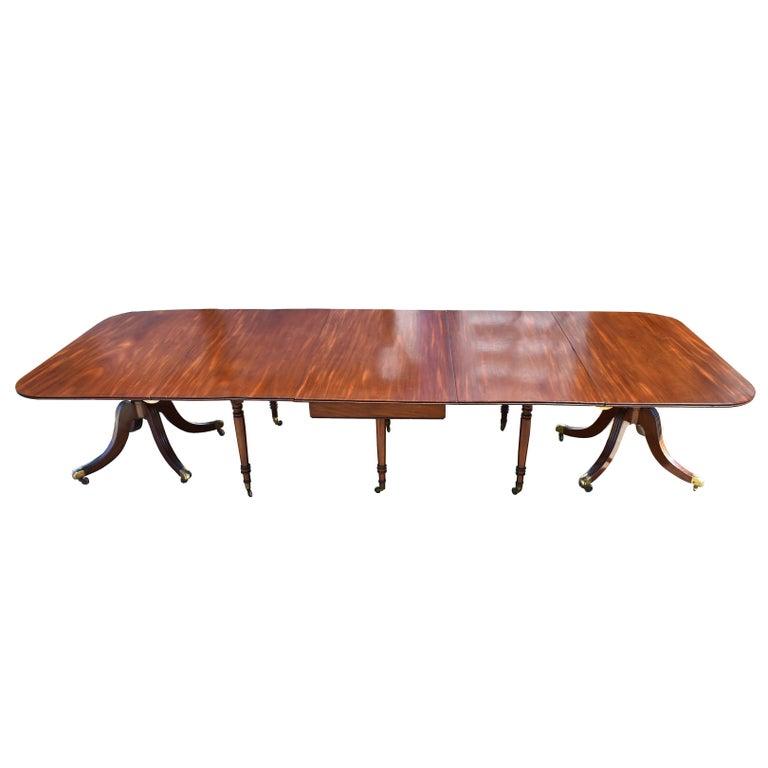 19th Century Regency Mahogany 'D' End Dining Table