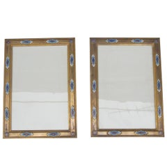 Pair of Cloisonné Enamel and Gilt Bronze Frames, Napoleon III Period