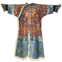 Fine 19th Century Imperial Chinese Dragon Robe