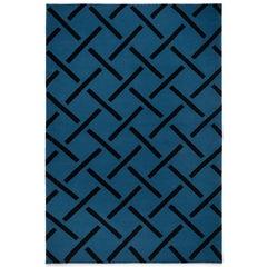 Link Beige, Modern Dhurrie/Kilim Rug in Scandinavian Design