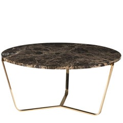 Dolomiti Emperador Marble Tall Coffee Table