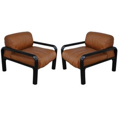 Pair of Knoll Midcentury Gae Aulenti Lounge Chairs