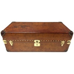 Antique Louis Vuitton Calf Leather Wardrobe Trunk