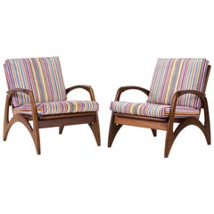 Pair of Mid-Century Modern Teak Lounge Chairs by De Ster Gelderland, 1960s