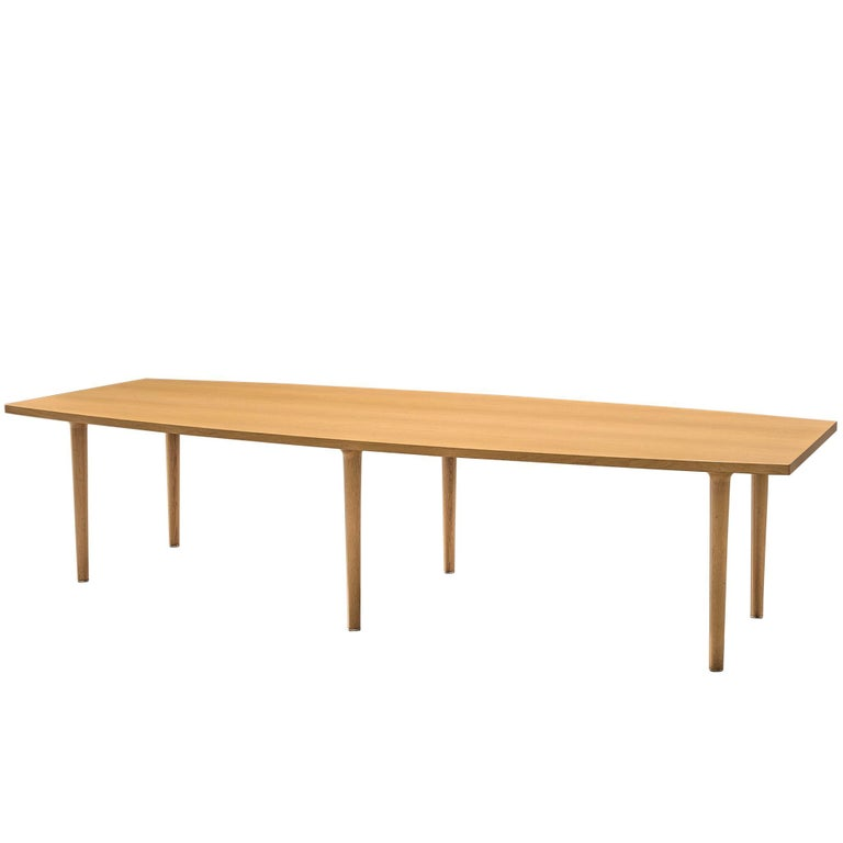 Hans Wegner for Johannes Hansen Boat Shaped Table