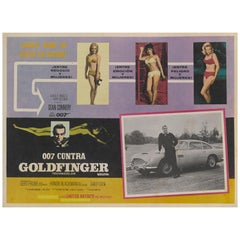 "Goldfinger"", Original Mexican Lobby Card"