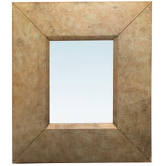 20th Century Large Leather Framed Mirror