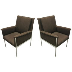 Pair of Lounge or Desk Armchairs by Florence Knoll, circa 1950, France