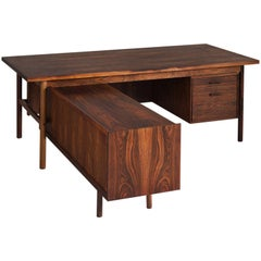 Ib Kofod-Larsen Freestanding Executive Desk in Rosewood