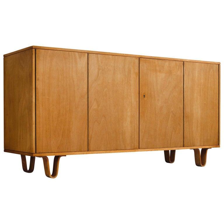 Cees Braakman Birch Four-Door Cabinet for Pastoe