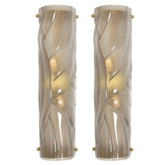 Pair of Avvolto Murano Wall Sconces