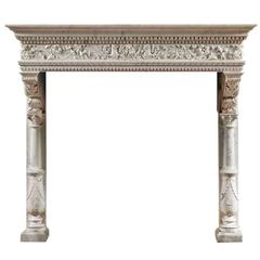 Antique Venetian Fireplace Mantel of Renaissance Style