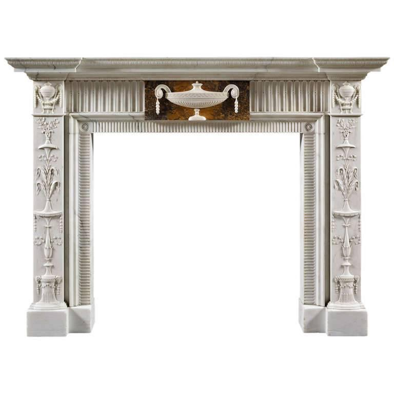 Neoclassical Style Antique Fireplace Mantel