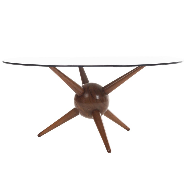 Gio Ponti Attributed Spike Base Table