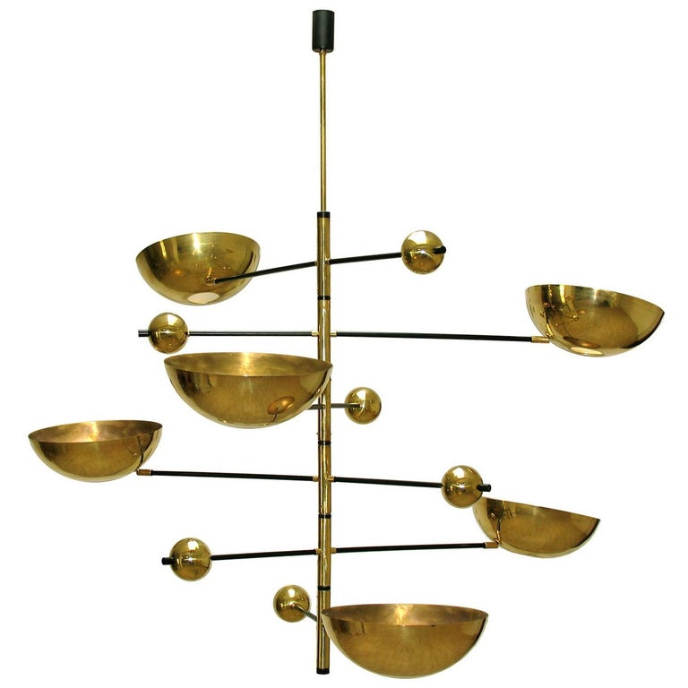 Brass Balanced Italian Chandelier