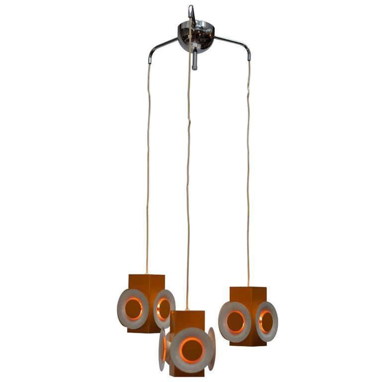Pair of 1960s Hanging Lamps