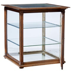 Late 19th Century Oak Glazed Haberdashery Display Cabinet