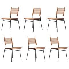 Set of Six Modern Paul McCobb Planner Group Ladder Back 'Shovel' Dining Chairs