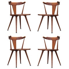 Modern Set of Four Paul McCobb Maple Spindle Back Dining Chairs Model #1530