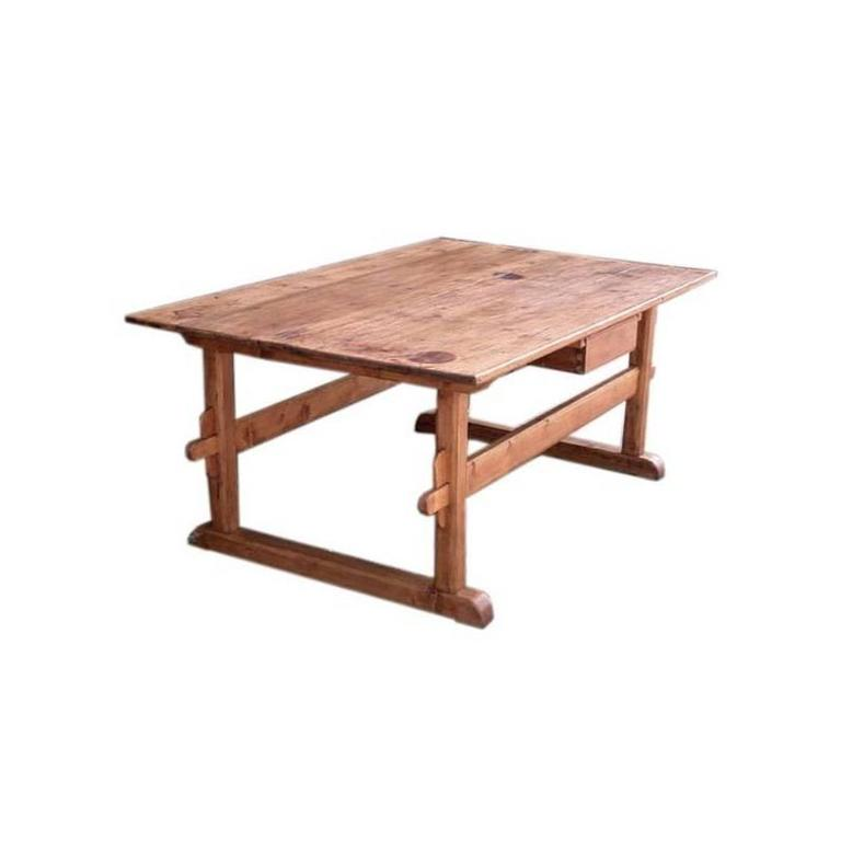 Beau Antique Trestle Table Or Farm Table For Sale