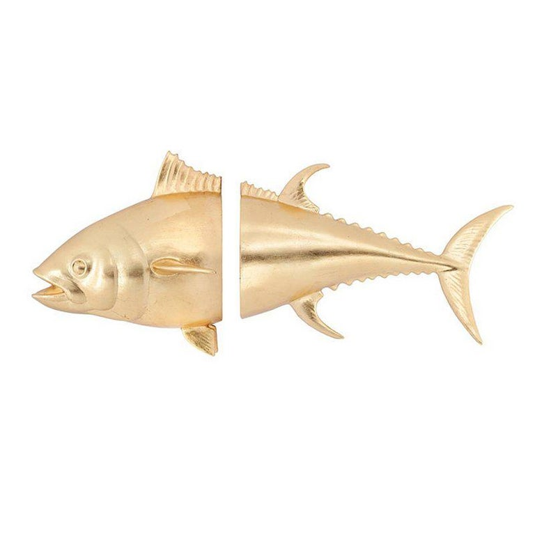 Tuna Wall Decoration in Ceramic in Gold or Silver or Black or White ...