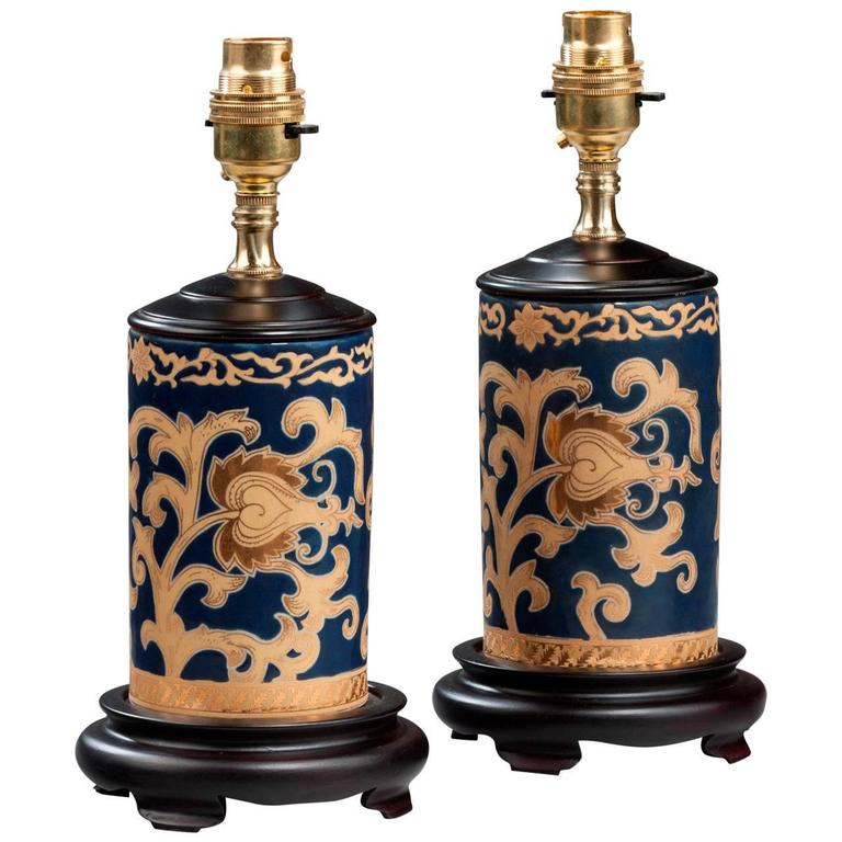 Pair of 20th century Cylindrical Lamps