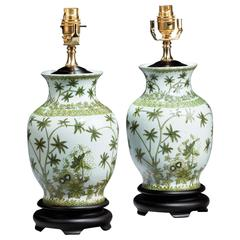 Pair of 20th century Canton Design Ovoid Lamps