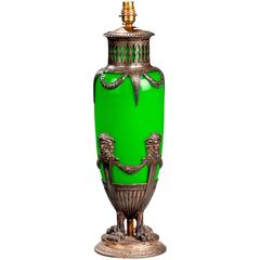19th century Single Art Nouveau Opaline Lamp
