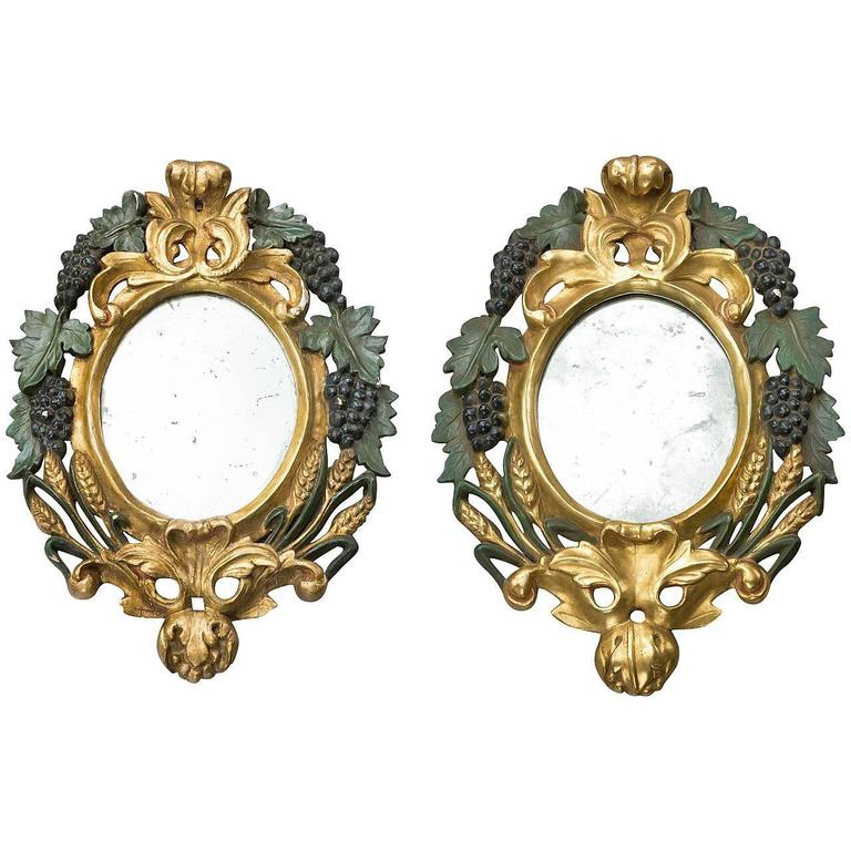 Pair of Late 19th Century Italian Mirrors For Sale