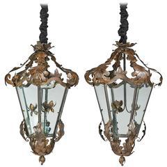 Pair of Six-Panel Lanterns