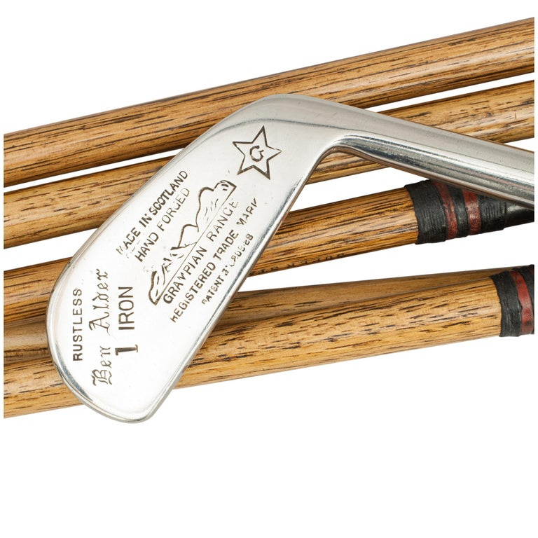 Set of Hickory Golf Clubs by Gibson